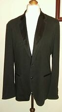 Dolce & Gabbana Sport Abrigo Blazer Negro (diplomática) tamaño Italia 52 Reino Unido 42