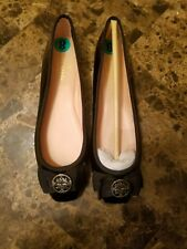 NIB KATE SPADE WOMEN FONTANA TOO BALLET FLATS SHOES 7M FLAT BLK PATENT LEATHER