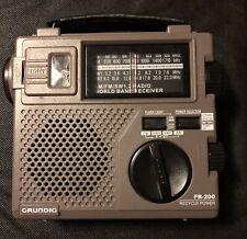 Grundig FR-200 Emergency Short Wave Radio Hand Crank World Band Receiver Tested!