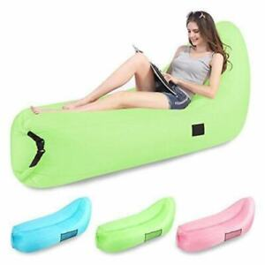 Blue Cozy Chairs Inflatable Air Sofa Chair Portable Lounger Lightweight w/ Bag