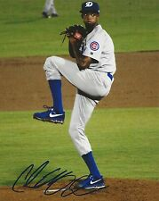 CARL EDWARD JR. CJ SIGNED CHICAGO CUBS 8X10 PHOTO 2016 WORLD SERIES CHAMPS AUTO