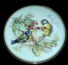 ROYAL VALE Blue Tit Birds Berries / Autumn Scene 8 ¼ inch Signed Plate c1955-64