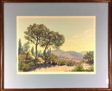 """Dawn Matthews Pencil Signed Limited Silkscreen: """"Cypress Walk"""""""