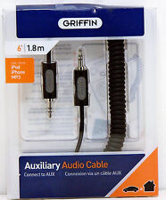 Griffin 6FT Cable 3.5mm Audio Auxiliary iPod, iPhone, MP3 player - 3022