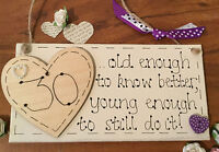 Personalised Birthday Gift Present Plaque 18th 21st 30th 40th 50th 60th 70th 80