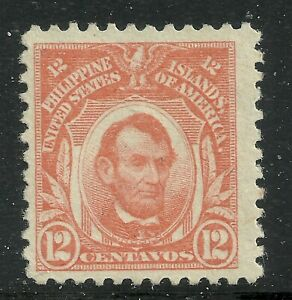 U.S. Possession Philippines stamp scott 295 - 12 cents Lincoln 1917 issue - mng