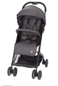 NEW - BabyTrend Jetaway Compact Stroller 5188 Ash Multiple Positions Lightweight