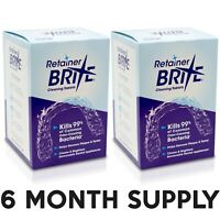 Retainer Brite 2 Pack -  6 Months Supply ( 192 Tablets )