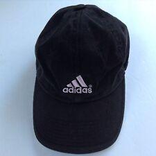 Adidas Snap Back Baseball Hat On Size Black w/Pink Stitching Cotton Unisex