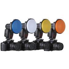4 Color GEL Diffuser for Photo Studio Speedlight Flash K-9 Accessory Adapter