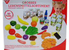 Play Go Grosses Lebensmittelsortiment 60 tlg. Set Kaufladen Kinder Küche 3124