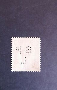 GB QEII 1958-65. Perfin 1'3 green used. Perf S P L. Wilding