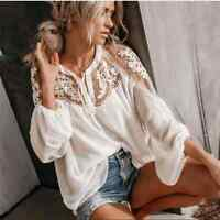 NWT Hayden | Ivory Lace Boho Top Womens M/L