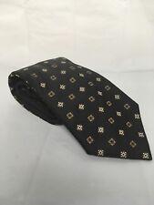 Joseph Abboud Black Geometric Necktie 100% Silk Made In Italy 56x3.75