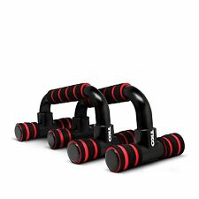 TKO Black Red Athletic Core Training Workout 2-Set Push-Up Bars NEW