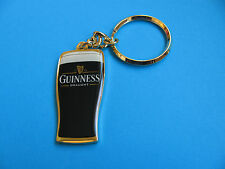 Guinness Draught Pint Keyring. VGC. Unused. Metal Gold Coloured
