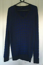 Men's Blue Jaeger Jumper XL With Cashmere And Cotton