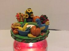 Old Virginia Candle Topper Acorns & Leaves NEW IN BOX Just in time for fall!