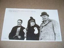 Original 1915 Charlie Chaplin Fatty Arbuckle & Mabel Norman Advertising Postcard