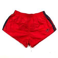 Vintage Adidas Trefoil Boys Youth M 24-26 Red Blue Running Shorts Nylon Striped