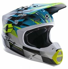 EVS Adult MX ATV Motocross Helmet T5 Speedway XS-2XL Blue/Yellow X-Large