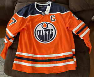 Adidas Men's NHL Authentic Orange Conner McDavid Oilers Jersey Size 56 (XXL) NWT