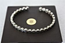 John Hardy Sterling Silver Dotted open Cuff Bracelet $550 NWT