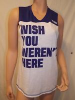 Victoria's Secret Pink NWT Solid Graphic Sleeveless Tee Color Blue X-Small