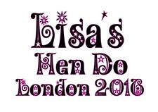 Personalised Hen do Hen Party Iron On Transfer A5 Light Coloured Garments