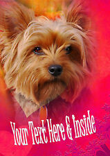 PERSONALISED YORKSHIRE TERRIER BIRTHDAY ANY OCCASION CARD + Illustrated insert