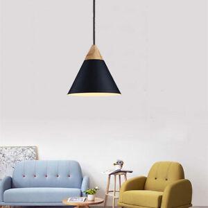 Wood Pendant Light Modern Black Ceiling Lamp Home Pendant Lighting Kitchen Light