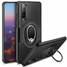 HUAWEI P30 PHONE ARMOUR CASE COVER STAND. RING BRACKET MAGNETIC CAR MOUNT. BLACK