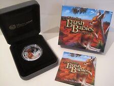 2010 australiano Bush neonati: Kangaroo 1/2 OZ 50 CENTESIMI COLOR ARGENTO PROOF COIN