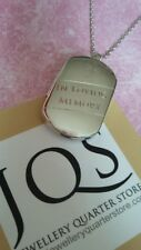 925 Sterling Silver Pet Cremation Ashes Engraved Lozenge Locket - Gift Boxed