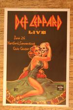 Def Leppard Concert Tour Poster 1983 Hartford Connecticut Civic Center