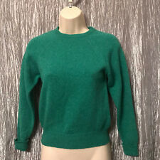 Denholm Knitwear Green Sweater Size ** Scotland Pure Wool Crew Neck Pull Over