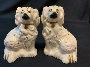 """PAIR ROYAL DOULTON  MANTLE DOGS  6"""""""