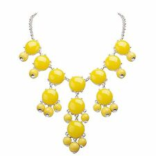 Jane Stone Mini Bubble Yellow Necklace Small Fashion Women Necklace Statement