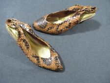 Vintage clasped sling back real python shoes unmarked size probably custom made