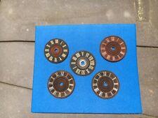 5 Vintage German Cuckoo Clock Dial Faces Roman Numerals - most 3.25 inches
