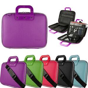 Faux Leather Portfolio Laptop Bag Business Briefcase For HP Essential / Pavilion
