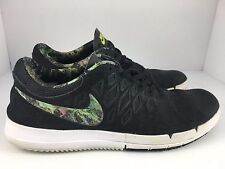 Nike Free SB Men US 9.5 Black + Gorge Green Plants Trees Skateboarding Shoes