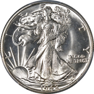 1942-P Walking Liberty Half PCGS MS65 Blazing White Gem Superb Eye Appeal