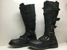 VTG WOMENS DR. MARTENS MOTORCYCLE GREEN BOOTS SIZE 9