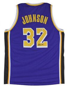 Magic Johnson Signed Los Angeles Lakers Jersey (Beckett COA) 5xNBA Champion
