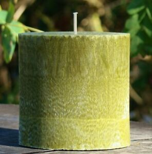 80hr EUCALYPTUS & LYCHEE Rich Scented OVAL CANDLE Natural Wax & Cotton Wick Gift
