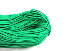 Outdoor Hiking  Survival  Paracord Rope 7 Core Strand 2.4M + buckle Hole Green