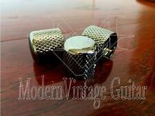 3  MVG SIFKBN Vintage Guitar Machined Metal Flat Top Knobs Knurled Black Nickel