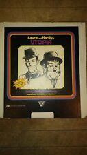 RARE collectible CED picture disc - Laurel and Hardy UTOPIA - MGM/UA
