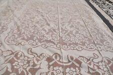 copriletto matrimoniale lino ricamato a mano sfilato siciliano MAI USATO 250x250